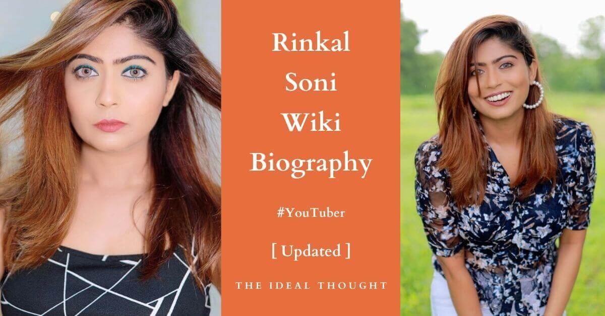 Rinkal Soni Wiki Biography YouTuber